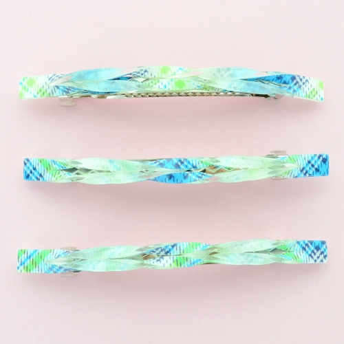 Printed Long & Skinny Barrette (Set of 3)