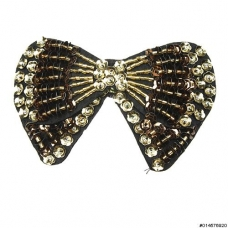 Vintage Inspired Sequin Bow Barrette (Clip Paris)