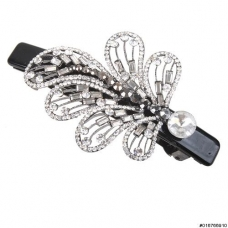 Eye-catching Crystal Fern Barrette (Clip Paris)