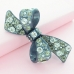 Crystal Acetate Bow Pinch Clip