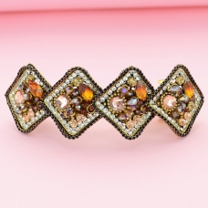 Vintage Style Crystal Beaded-Embellished Barrette