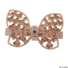 Cellulose Acetate Crystal Butterfly Barrette