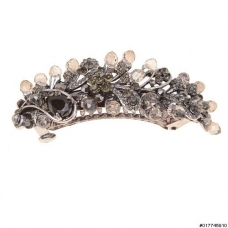 CubicZirconia Crystal Bead Barrette All Hair Types