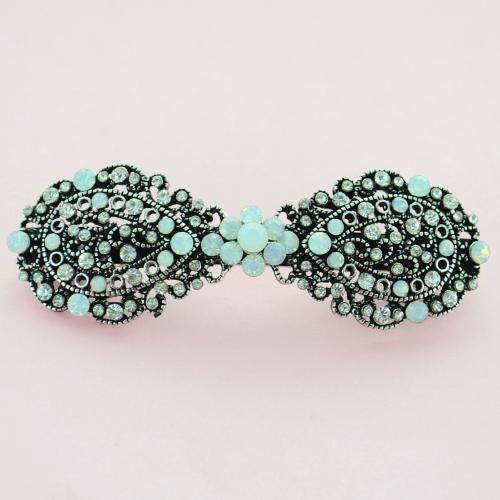 Vintage Inspired Crystal Bow Barrette (Cilp Paris)