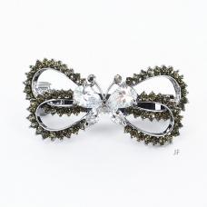 Elegan Cubic Zirconia Butterfuly Barrette
