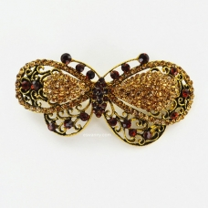 Spring Inspired Sparkle Crystal Butterfly Barrette