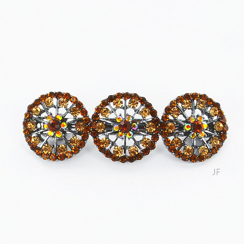Color Swirl Crystal Barrette (Clip Pairs)