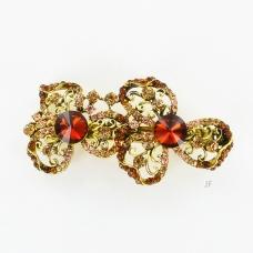 Twins Crystal Flower Barrette (Clip Paris)