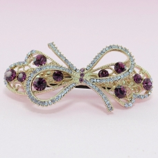 Australian Crystal Embellished Bow Barrette