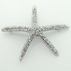 Crystal Star fish Barrette