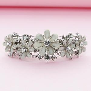 Crystal-Embellished Flower Volume Barrette