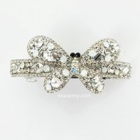 Sparkling Full Crystal Butterfly Barrette