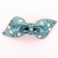Crystal Acetate Bow Barrette