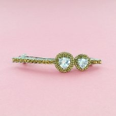 Luxurious Cubiczirconia Barrette (France Clip)