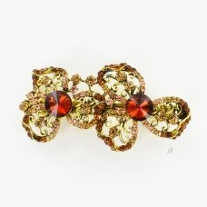 Twins Crystal Flower Barrette (Clip Paris)