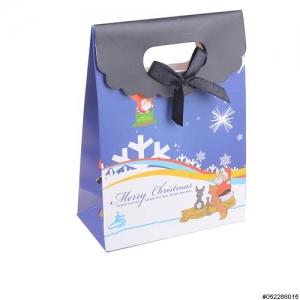 Velcro Flap Closure Bow Deco Mix Printed Gift Bag