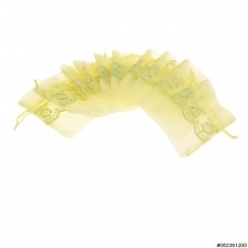 Silky See-through Lace Detail Organza Bag 10/Pack