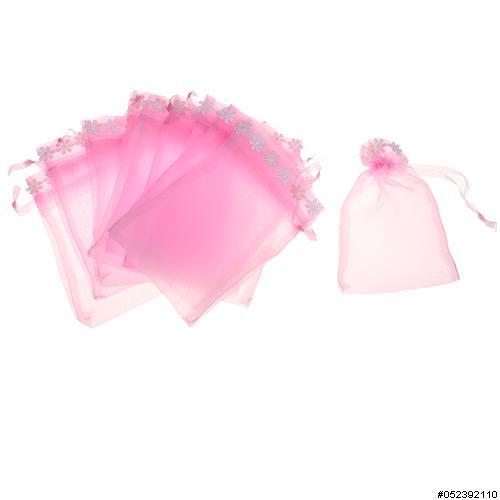 Lace Deco Matching Drawstring Organza Bag