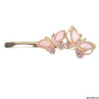 Spring Inspired Crystal Butterfly Bobby Pin