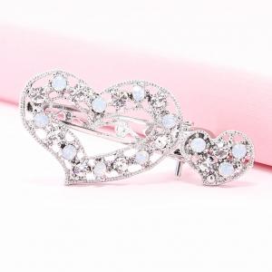 Sparkle Crystal Heart Pinch Clip