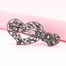 Sparkle Crystal Heart Pinch Clip