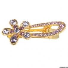Crystal Flower Mini Pinch Clip