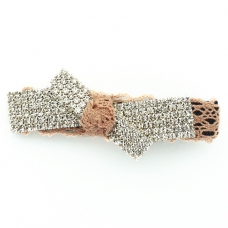 Crystal & Lace Alligator Clip