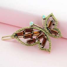 Crystal Butterfly Barrette