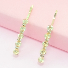 2-Pack Dazzling Row Crystal Barrettes