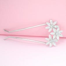 Bride Rhinestone Flowers Hair Pin