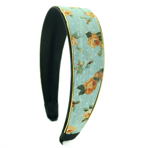 Vintage Inspired Floral Chiffon Headband