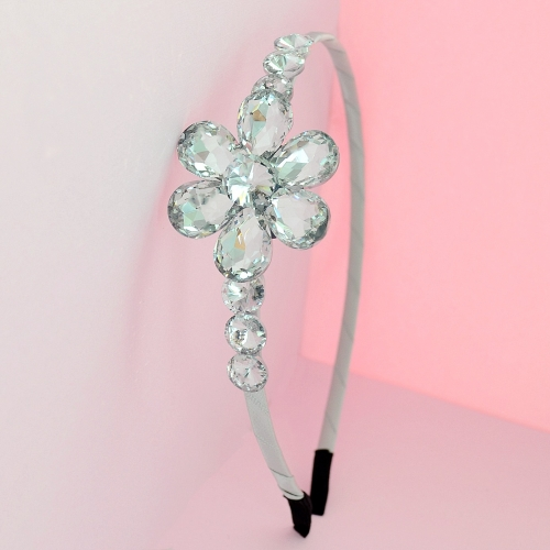 Sparkling Crystal Flower Headband