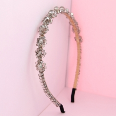 Crystal-Embellished Flowers headband