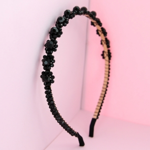 Crystal-Embellished Flowers headband