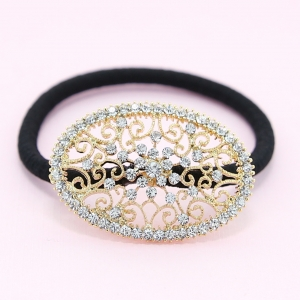 Australian Crystal-Embellished Oval Hair Tie