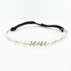 Stretch Crystal Feather Headwrap