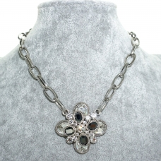 Sparkling Crystal Pendant Necklace