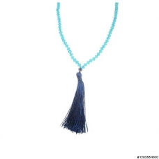 Crystal Beaded Tassel Necklace
