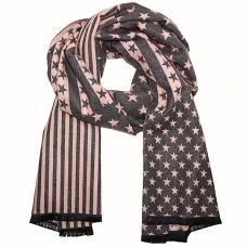 Reversible Stripe & Star Scarf