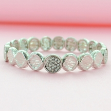 Crystal Disc Stretch Bracelet