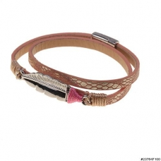 GoodLuck Feather Leather Wrap Bracelet