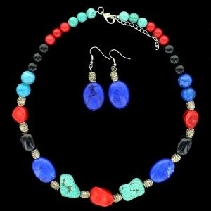 Mix Quartz Stones Necklace Set