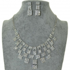 Rhinestone Evening Necklace Set