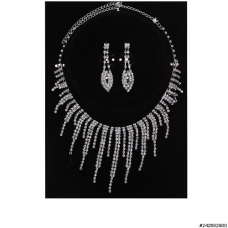 Rhinestone Evening Necklace Set