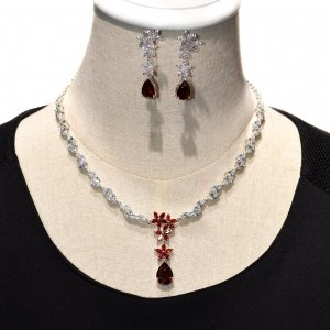 Timeless All Around Cubic Zirconia Necklace Set