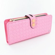 Adjustalbe Woven Embossed FauxLeather Phone Wallet