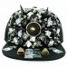 Unsex Exaggerate Horn Studded Baseball Cap