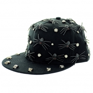 Unsex Spider Me Crystal Studded Baseball Cap