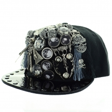 Unsex Playful Studded & Skull Baseball Cap