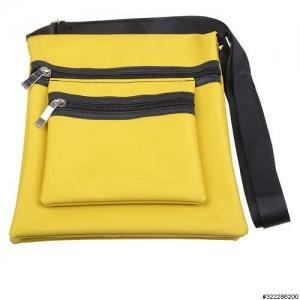 Nylon lightweight triple compartment bag